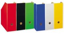 Stehsammler A4 weiß Pappe extra breit, Rückenbreite 11cm