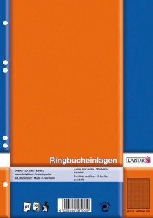 Ringbucheinlagen A5 kariert 70g chlorfrei 50 Blatt