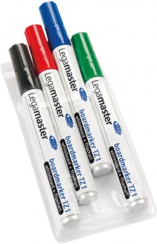 Whiteboardmarker TZ1 Rundspitze 1,5-3mm 4 Farben sort. nachfüllbar