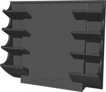 Glasboard Markerhalter magnethaft für 4 Boardmarker, schwarz