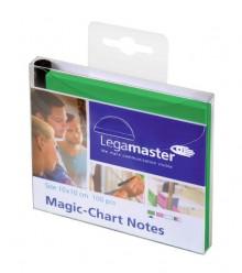 Magic Chart Notes 10 x 10 cm, grün, haftet ohne Kleber, abwischbar,