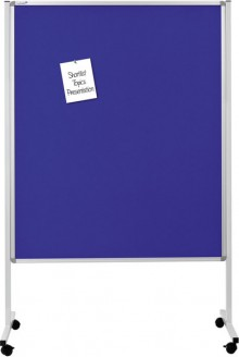 Multiboard XL Whiteboard, Textil blau, 120 x 150 cm, 4 festsellbare