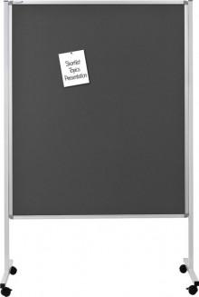 Multiboard XL Whiteboard, Textil grau, 120 x 150 cm, 4 festsellbare