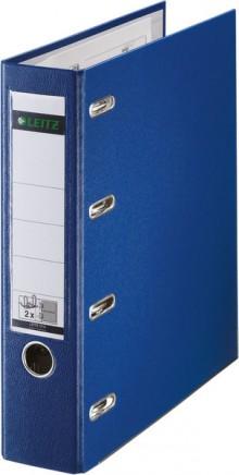 Leitz Doppelordner mit Schlitzen 8cm A5 blau