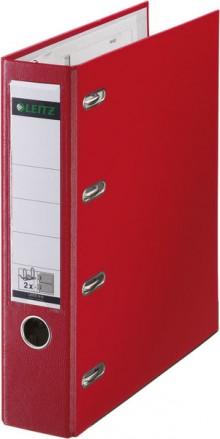 Leitz Doppelordner mit Schlitzen 8cm 2x A5 rot