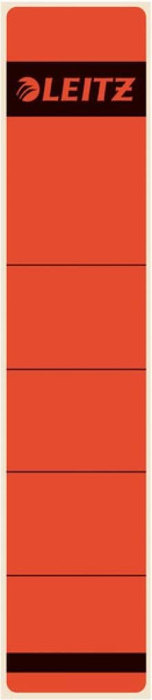 Rückenschild kurz & schmal selbstklebend, Farbe rot