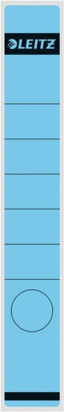 Rückenschild lang/schmal selbstklebend, Farbe blau, 10 stk.