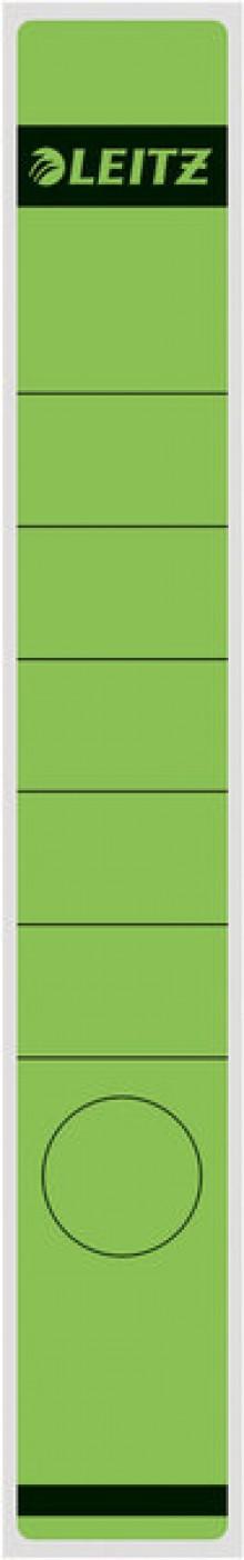 Rückenschild lang/schmal selbstklebend, Farbe grün, 10 stk.