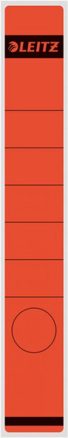 Rückenschild lang/schmal selbstklebend, Farbe rot, 10 stk.