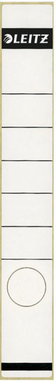 Rückenschild lang/schmal selbstklebend, Farbe weiß, 10 stk.