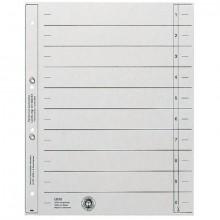 Trennblätter Karton A4 grau Lochung geöst