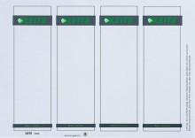 PC-beschriftbare Rückenschilder für Plastik Ordner kurz & breit