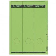 Papierrückenschild lang/breit grün A4 25 Blatt = 75 Stück