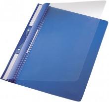 Universal Plastic-Einhängehefter A4, auch imOrdner Abheftbar blau
