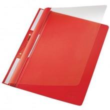 Universal Plastic-Einhängehefter A4, auch imOrdner Abheftbar rot