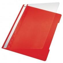 Schnellhefter PVC A4 transparent/rot