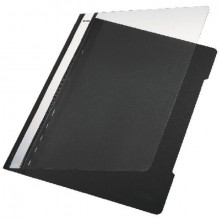 Schnellhefter PVC A4 transparent/schwarz