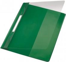 Exquisit Plastik Schnellhefter grün A4 mit Falz, Überbreit