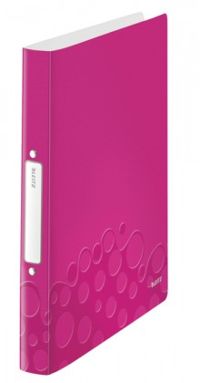 Ringbuch WOW A4 PP 2Ringe Ø 25mm, pink metallic