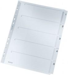 Register 1-5 A4 grau 160 g/qm Karton