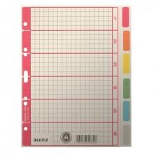 Register Blanko A5 Farbtab. 6Bl gr 230g/qm Karton farbig bedruckt