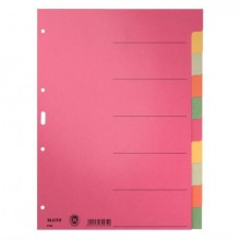 Register Blanko A4 6-farbig 6Bl 230g/qm Karton durchgefärbt