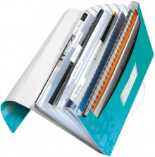 Leitz WOW Projektmappe in eisblau metallic