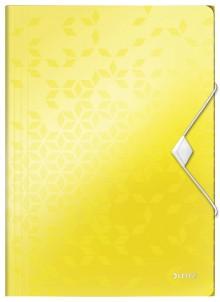 WOW Eckspannmappe, PP, gelb für DIN A4, für ca. 150 Blatt