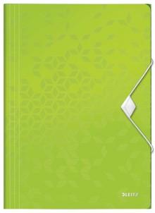 WOW Eckspannmappe, PP, grün für DIN A4, für ca. 150 Blatt