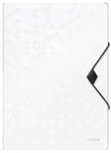 WOW Eckspannmappe, PP, weiß für DIN A4, für ca. 150 Blatt