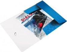 Leitz Eckspannmappe in metallicblau mit eingelegten Unterlagen