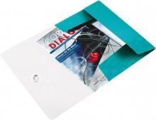Leitz Eckspannmappe in eisblaumetallic mit eingelegten Unterlagen