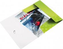 Eckspannermappe A4 WOW, PP, grün metallic, 3 Schutzklappen
