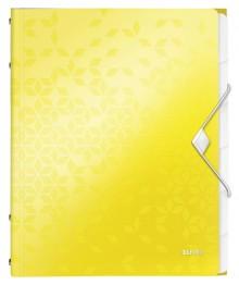 WOW Ordnungsmappe, 6 Fächer, gelb 3 Schutzklappen, Inhaltsverzeichnis,