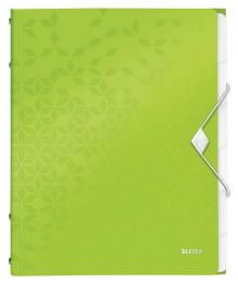 WOW Ordnungsmappe, 6 Fächer, grün 3 Schutzklappen, Inhaltsverzeichnis,