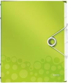 Ordnungsmappe A4 WOW, PP, 6 Fächer, grün metallic, 3 Klappen