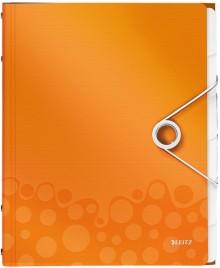 Ordnungsmappe A4 WOW, PP, 6 Fächer, orange metallic, 3 Klappen