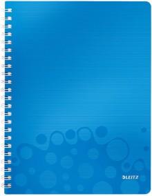 Collegeblock WOW A4 PP-Einband liniert, blau metallic