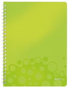 Collegeblock WOW A4 PP-Einband liniert, grün metallic