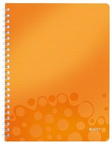 Collegeblock WOW A4 PP-Einband liniert, orange metallic