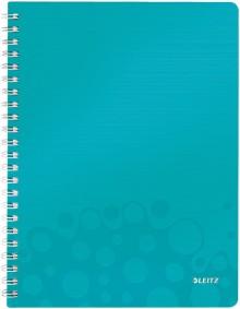 Collegeblock WOW A4 PP-Einband kariert, eisblau metallic