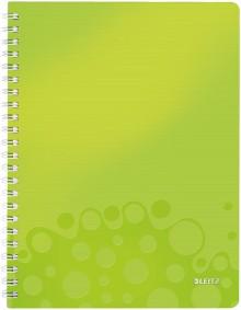 Collegeblock WOW A4 PP-Einband kariert, grün metallic