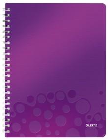 Collegeblock WOW A4 PP-Einband kariert, violett metallic