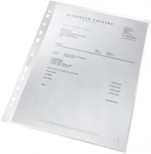 Prospekthülle re:cycle, DIN A4, genarbt, 0,10mm, PP, transparent,