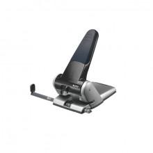 Registraturlocher schwarz, Stanzleistung 65 Blatt 6,5mm, mit Anschlagschiene A3