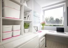 MyBox 18l, mittel, mit Deckel, weiß/pink, 318x198x385mm,