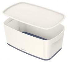 MyBox 5l, klein, mit Deckel, weiß/grau, 318x128x191mm,