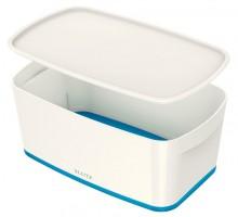 MyBox 5l, klein, mit Deckel, weiß/blau, 318x128x191mm,