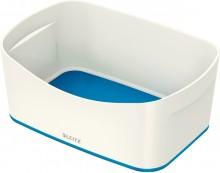 MyBox Aufbewahrungsschale weiß/blau, 246x98x160mm, ABS Kunststoff