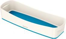 MyBox Aufbewahrungsschale länglich weiß/blau,307x55x150mm,ABS Kunststoff